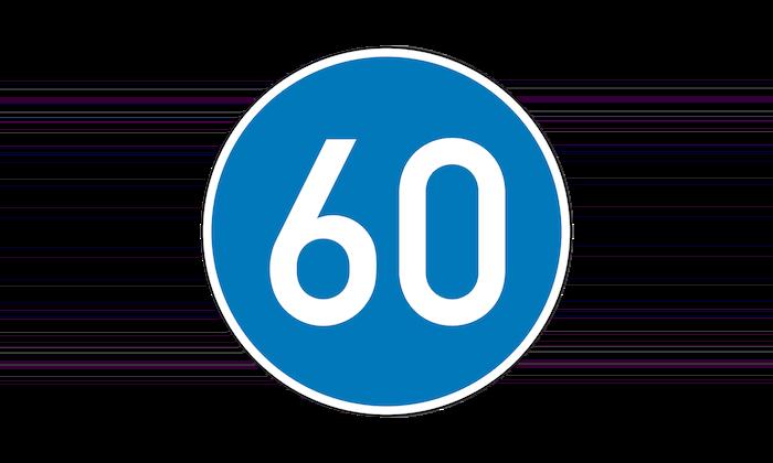 Mindestgeschwindigkeit Verkehrsschild