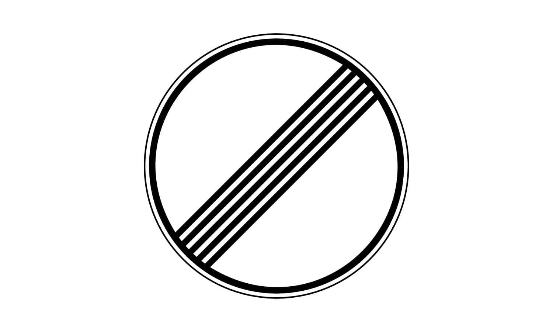 Welche Verbote werden mit diesem Verkehrszeichen aufgehoben?