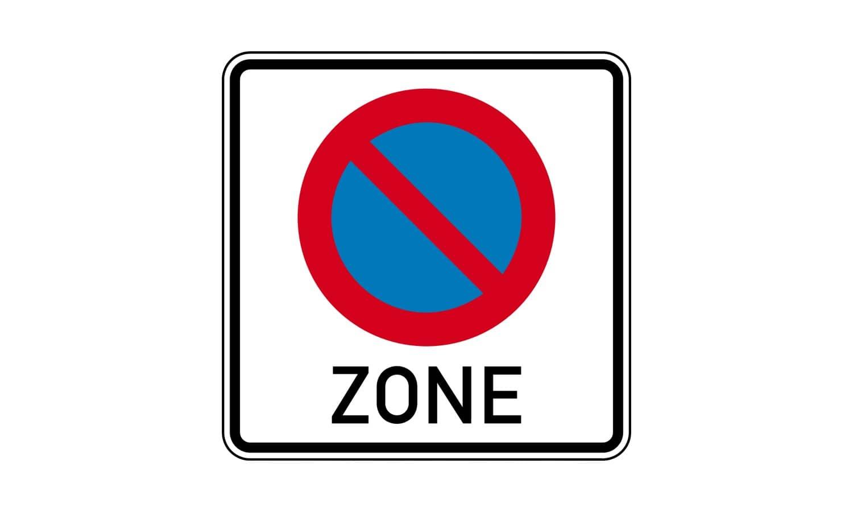 Was ist in der hier beginnenden Zone erlaubt?
