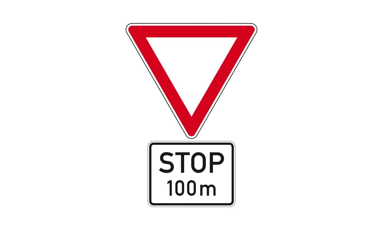 Was wird durch diese Verkehrszeichenkombination angekündigt?