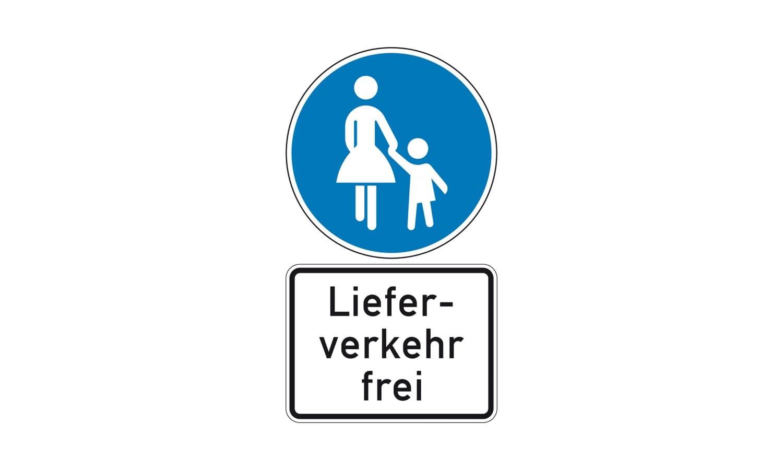 Wie müssen Sie sich in dieser Straße verhalten, wenn Sie ein Kraftfahrzeug im Lieferverkehr fahren?