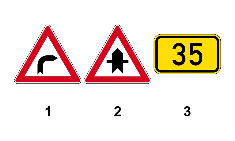 Welches Verkehrszeichen gibt Vorfahrt?