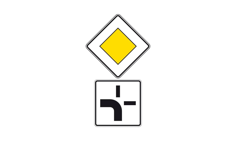 Was bedeutet diese Verkehrszeichenkombination für Sie?