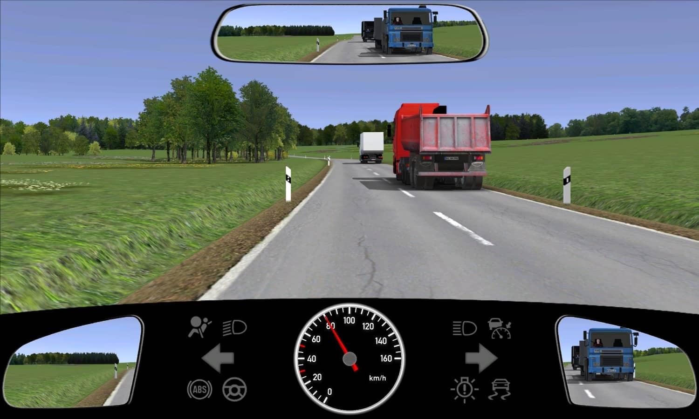 Sie sind beim Überholen mehrerer Lkw in diese Situation geraten. Wie verhalten Sie sich jetzt?