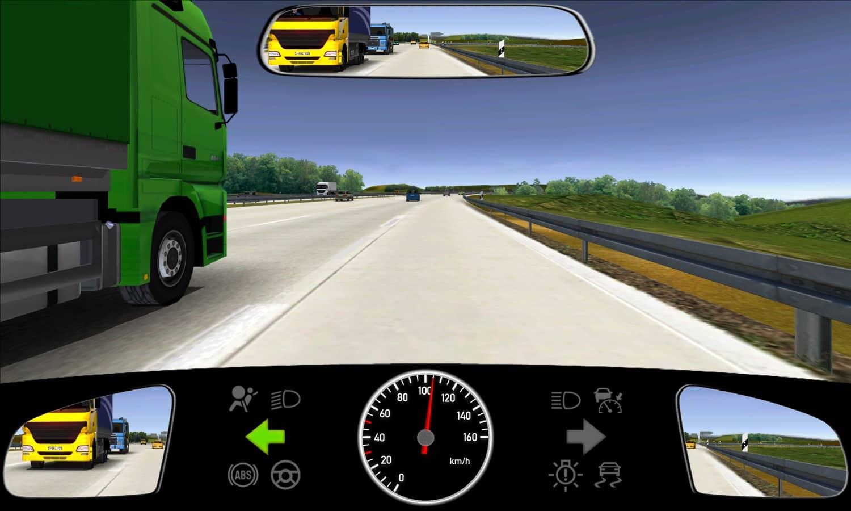 Sie fahren mindestens 20 km/h schneller als der grüne Lkw. Wie sollten Sie sich verhalten?