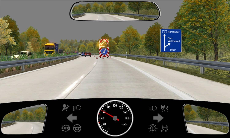 Sie möchten die Autobahn verlassen. Wie verhalten Sie sich in dieser Situation richtig?