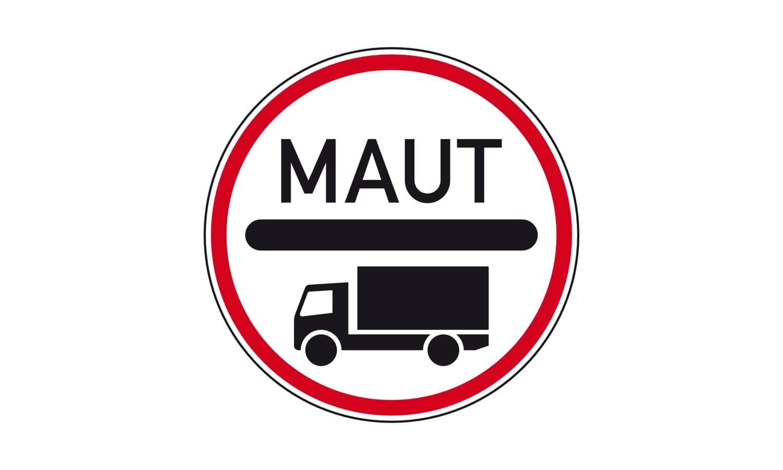 Sie führen einen mautpflichtigen Lkw und nähern sich dem dargestellten Verkehrszeichen. Wie verhalten Sie sich?