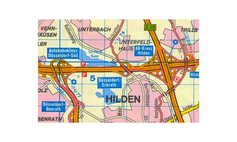 Sie fahren auf der Autobahn und wollen auf direktem Weg nach Unterbach. An welcher Stelle verlassen Sie die Autobahn?