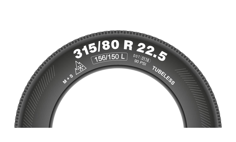 """Was bedeutet die Kennzeichnung """"156/150"""" in der folgenden Reifenbezeichnung: 315/80 R 22.5 156/150 L?"""